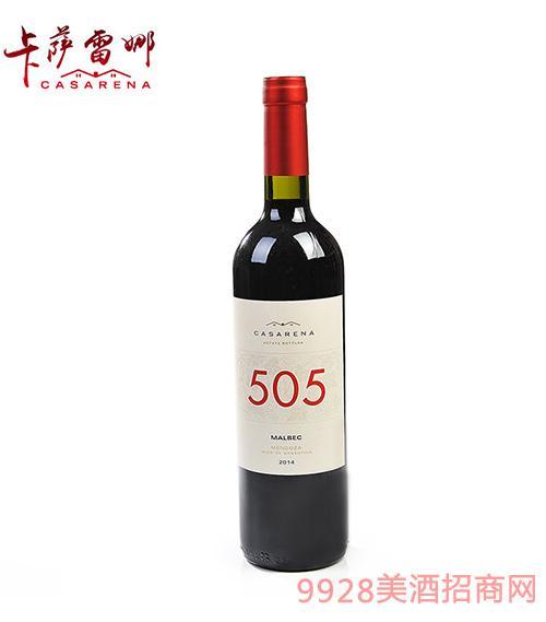 505馬爾貝克干紅葡萄酒13.9度750ml
