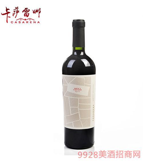 卡萨雷娜赤霞珠干红葡萄酒14.5度750ml