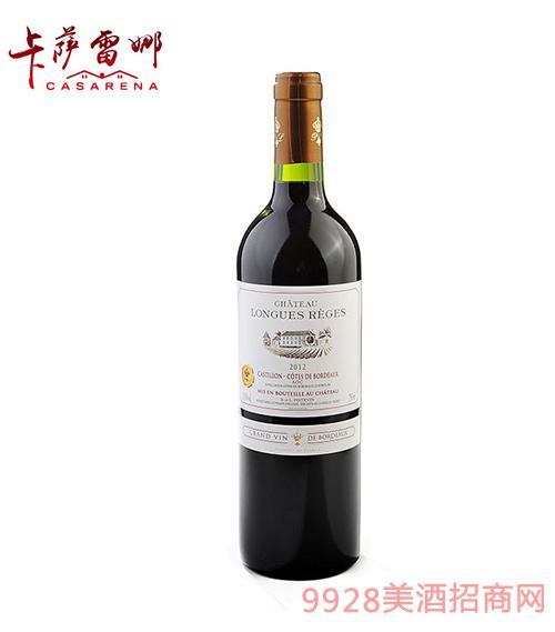 隆客城堡干紅葡萄酒13.5度750ml