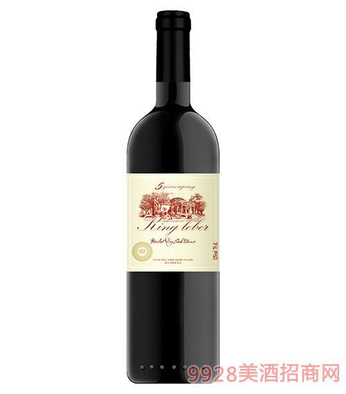 莱伯君王8年珍藏干红葡萄酒12度750ml