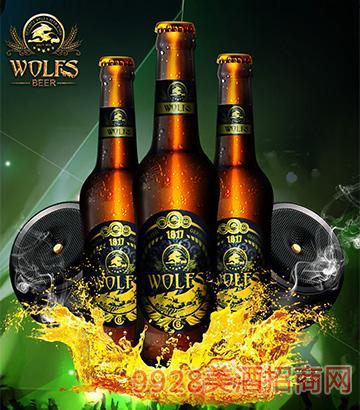 德国狼堡啤酒酷啤330ml瓶装