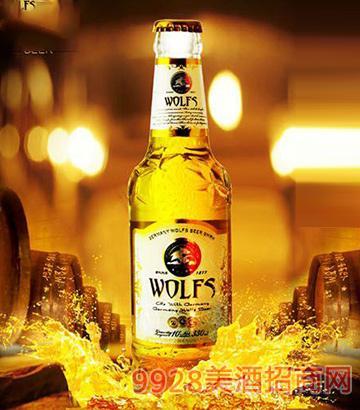 德国狼堡啤酒水晶330ml瓶装
