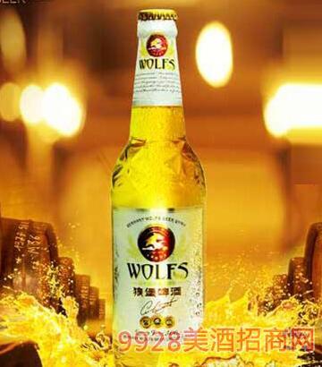 德国狼堡啤酒冰纯500ml瓶装