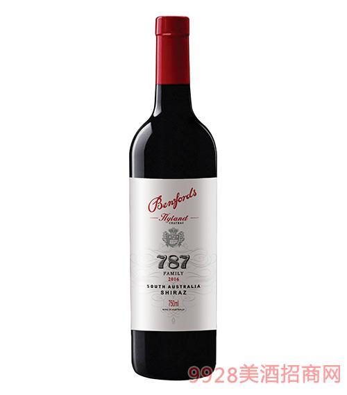 奔富海兰酒庄家族牌787干红葡萄酒15度750ml