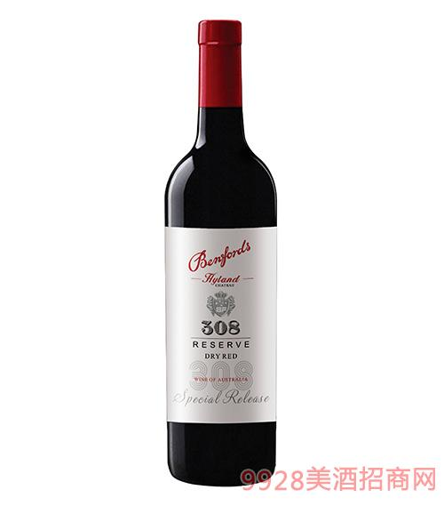 奔富海蘭酒莊精選308干紅葡萄酒13.7度750ml