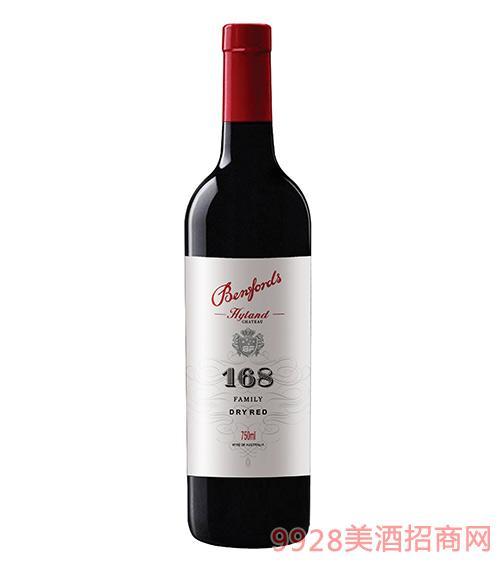 奔富海蘭酒莊家族牌168干紅葡萄酒13.7度750ml
