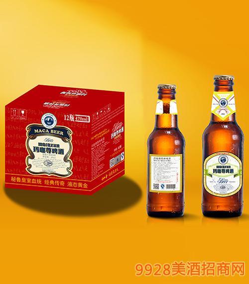 玛咖尊啤酒瓶装470mlx12
