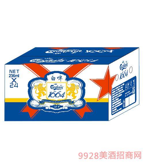 山东嘉士伯啤酒白啤箱236ml