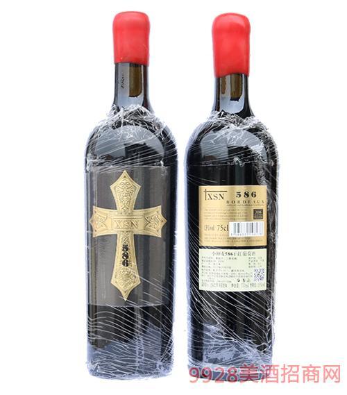 法国xsn十字架红酒586 13度750ml