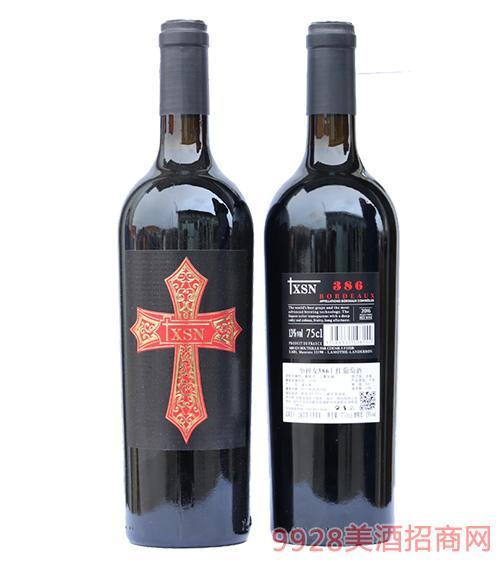 法国xsn十字架红酒386 13度750ml