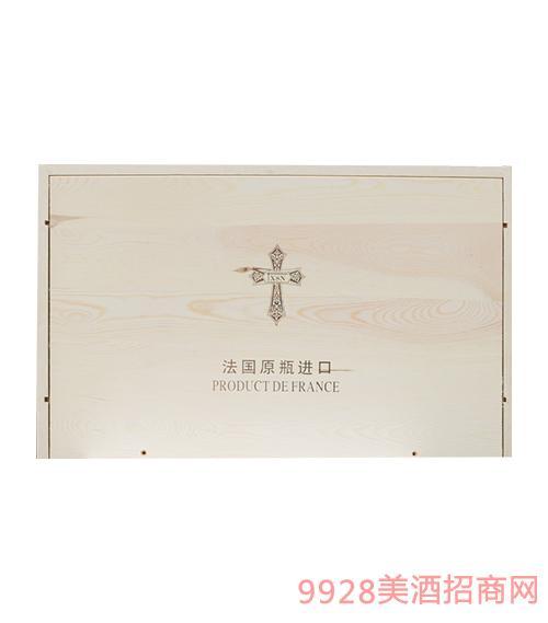 法国xsn十字架红酒箱装