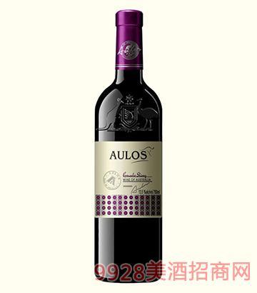 澳洛斯袋鼠歌海娜西拉干红葡萄酒13.5度750ml