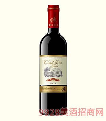法国卡瑞特巴塔干红葡萄酒13度750ml