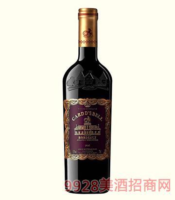 法国卡瑞特贝尔干红葡萄酒13.5度750ml
