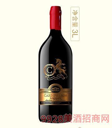 法国卡瑞特莱昂干红葡萄酒13.5度3L
