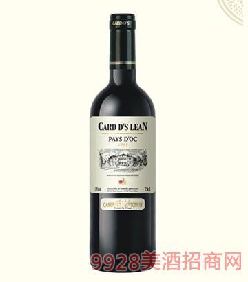 法国卡瑞特莱恩干红葡萄酒13度750ml