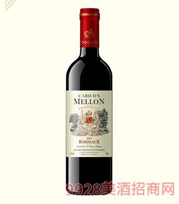 法国卡瑞特梅隆干红葡萄酒13度750ml