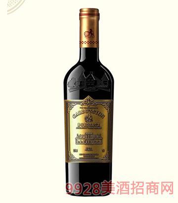 法国卡瑞特斯顿干红葡萄酒13.5度750ml