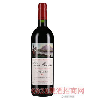 法国木刚城堡干红葡萄酒750ml