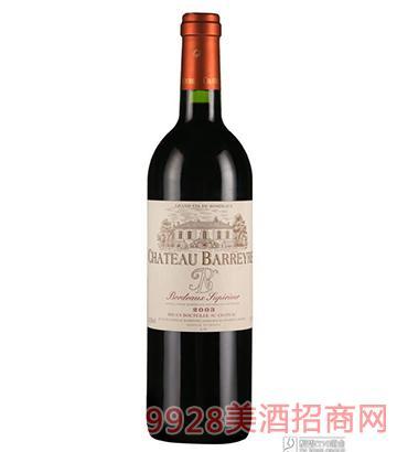 法国班海河城堡干红葡萄酒750ml