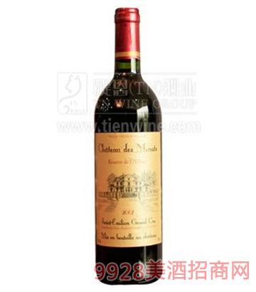 法国圣地干红葡萄酒750ml