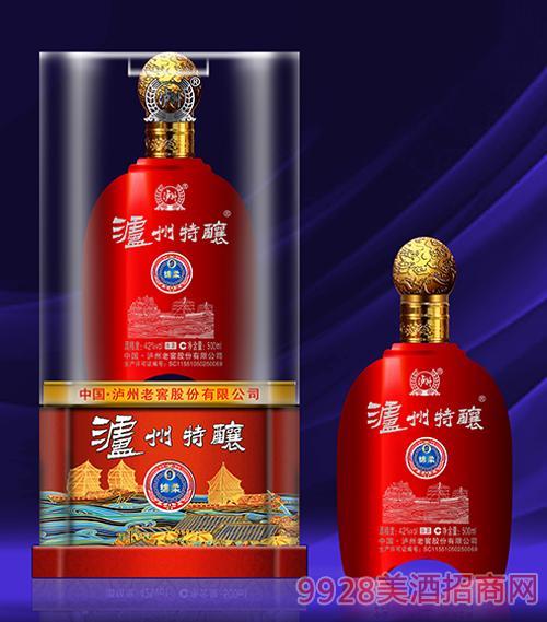 泸州特酿酒绵柔9-42度500ml(红)