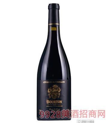 法国布尔顿干红葡萄酒750ml