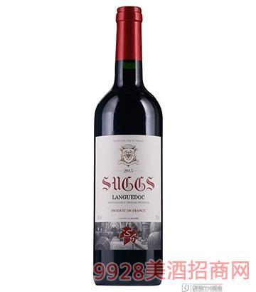 法国萨格斯干红葡萄酒750ml