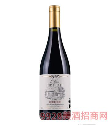 法国依莱城堡干红葡萄酒750ml