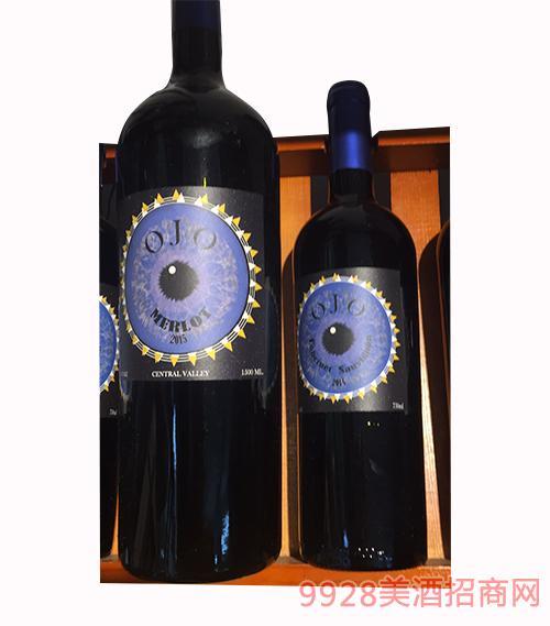 智利天眼美乐红葡萄酒13度1500ml
