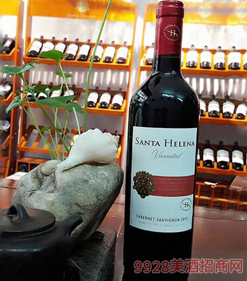 智利圣海莲娜赤霞珠红葡萄酒13.5度750ml