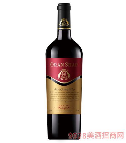 澳大利亚澳兰莎普袋鼠美露干红葡萄酒14度750ml