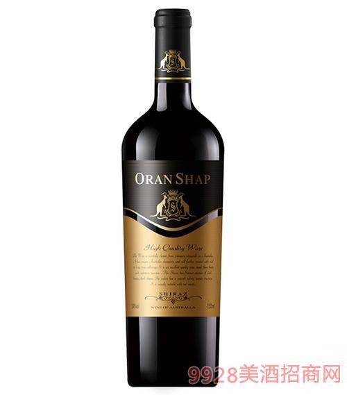 澳大利亚澳兰莎普袋鼠西拉干红葡萄酒13.5度750ml
