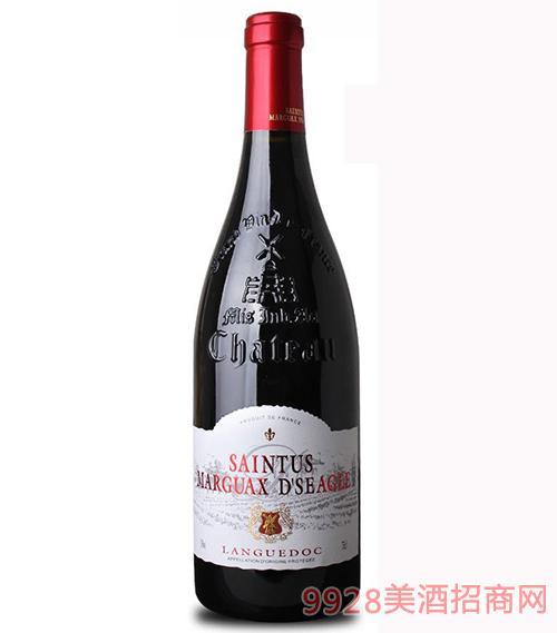 法国圣图斯玛歌仕佳巴顿干红葡萄酒13度750ml