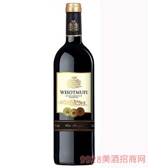 法国威珞特菲欧帝干红葡萄酒12度750ml