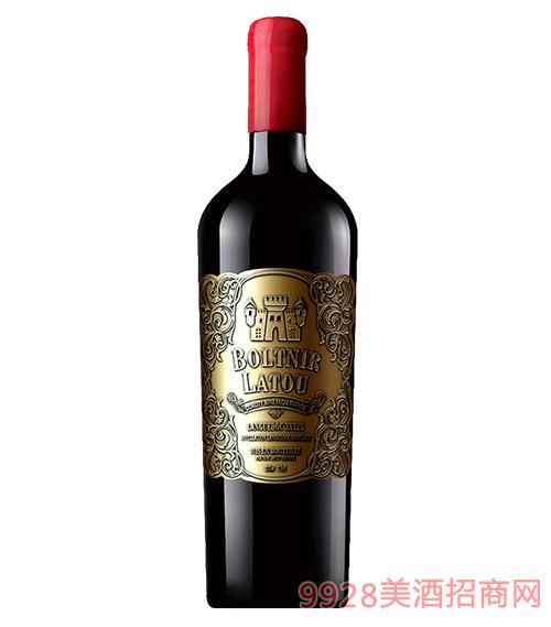 法国布勒塔尼拉图城堡干红葡萄酒13.5度750ml