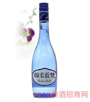 蓝梦地景绵柔蓝梦酒42度500ml