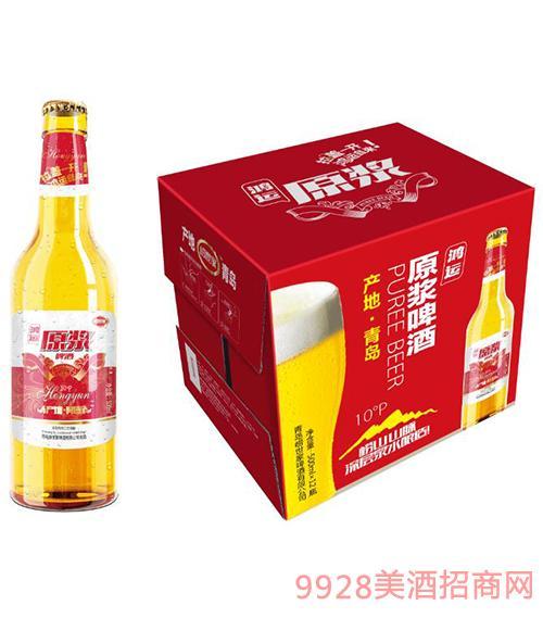 原浆啤酒鸿运500mlx12