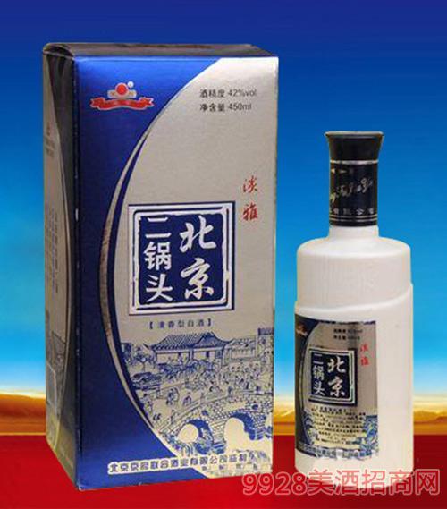 北京二锅头淡雅42度450mlx6清香型白酒