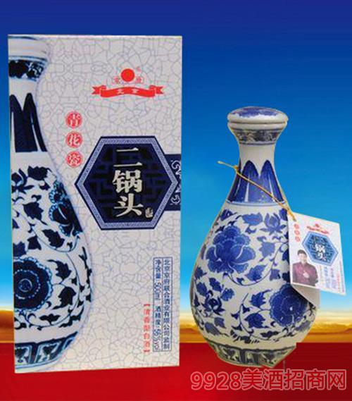 二锅头青花瓷56度500mlx6清香型白酒