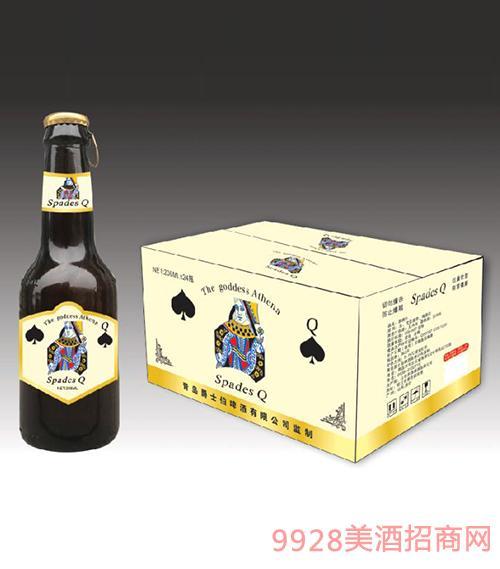 黑桃Q拉环精酿啤酒(黄箱)208mlx24瓶