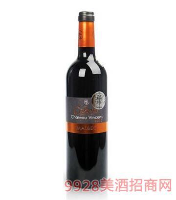 文森斯城堡马尔贝克干红葡萄酒13度750ml