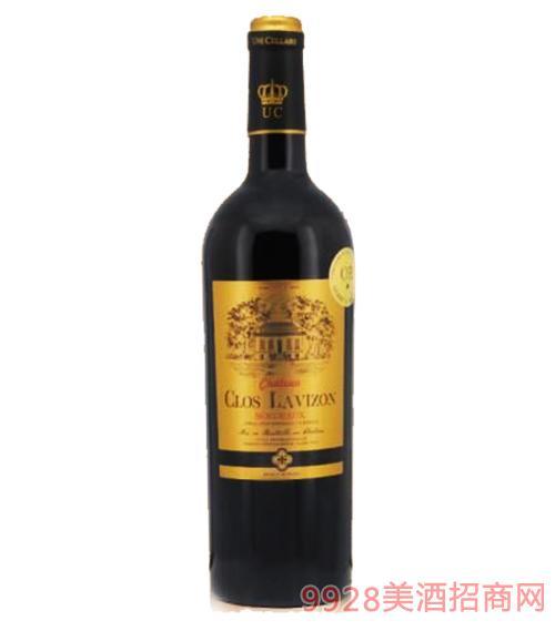 法国拉维城堡干红葡萄酒14度750ml