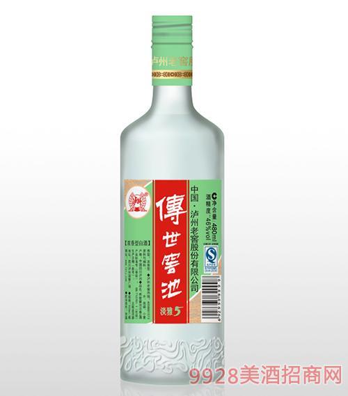 传世窖池酒淡雅5 46度480ml