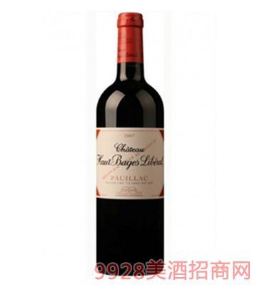 奥巴里贝城堡干红葡萄酒13度750ml