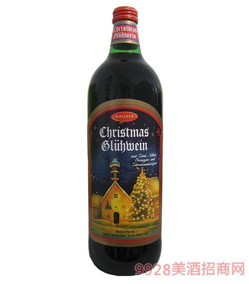豪斯·圣诞节葡萄配制酒9.9度1L