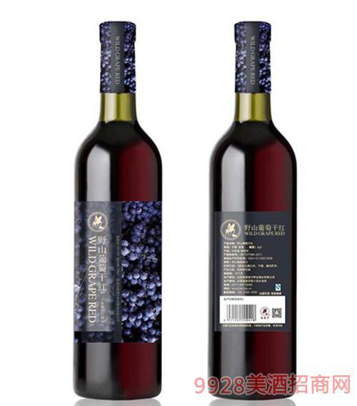 野山葡萄干红12度750ml