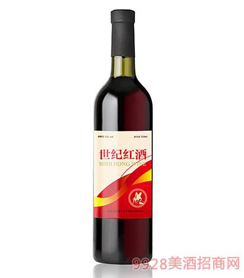 世纪红酒12度750ml