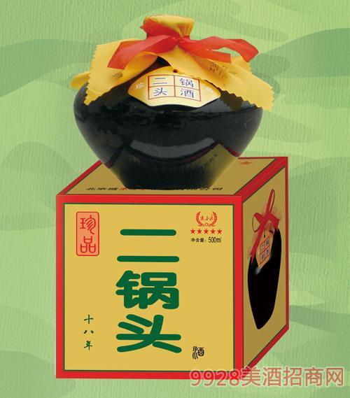 京小兵酒珍品二锅头十八年56度500mlx6