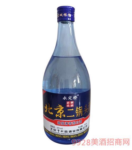 永定桥北京二锅头酒43度750ml